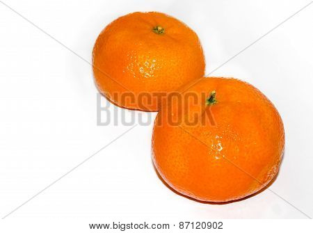Mandarine oranges - isolated