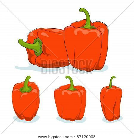 Orange bell pepper,sweet pepper or capsicum