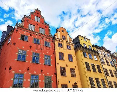 Colorful Buildings In Gamla Stan, Stockholm