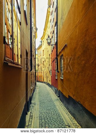 Narrow Street In Gamla Stan, Stockholm
