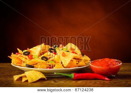 Tortilla Chips And Salsa Dip