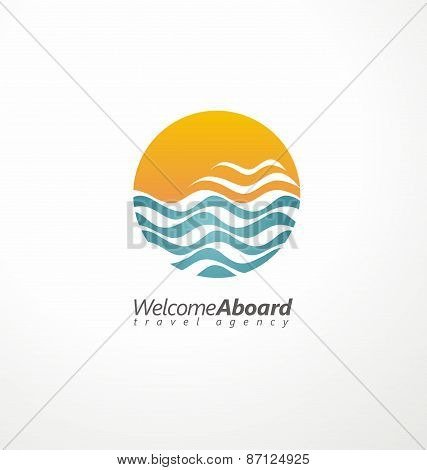 Travel agency creative symbol concept