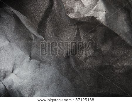 black and white paper background, creased paper texture