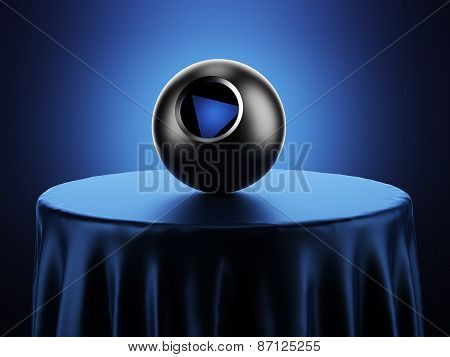 Magic 8 Ball on table