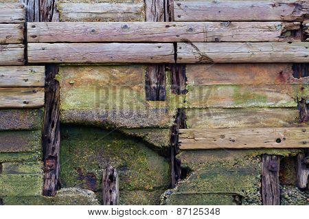 Old Weathered Wood Planks, Texture Background