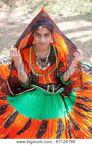 Jaipur, India - March 23, 2009 : woman of the countryside are celebrating the god who protect them in the gangaur festival one of the most important of the year,march 23 2009 in all rajasthan,india