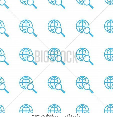 Unique World scan seamless pattern