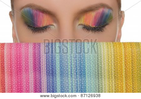 Horizontal Picture Coloured Eyes And Handbags