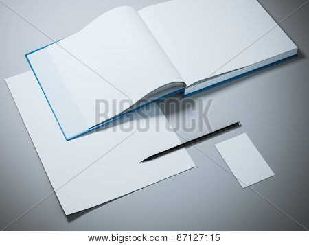 Opened book mockup template