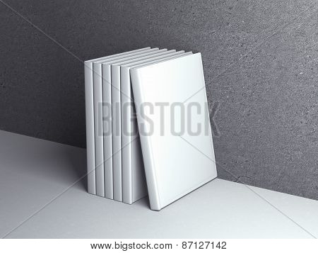 Vertically standing template books