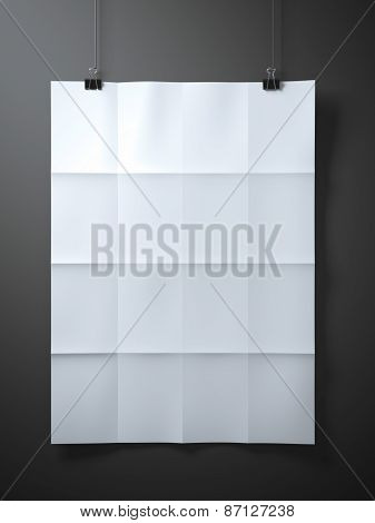 White folded  sheet of paper