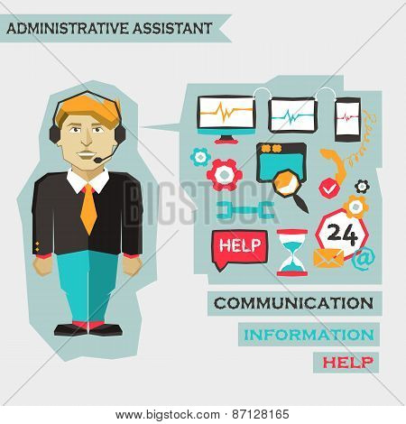Administrative Assistant. Freelance Infographic.