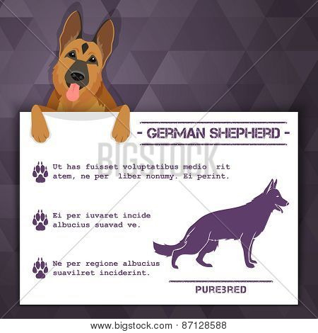 german shepherd dog banner