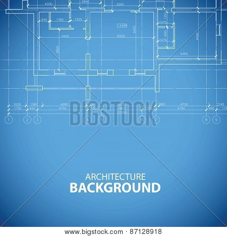 Blueprint building background