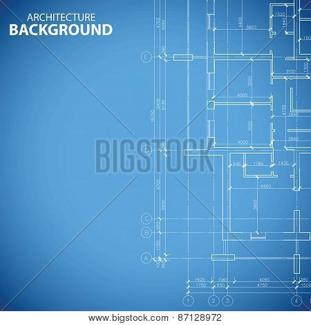Blueprint building plan