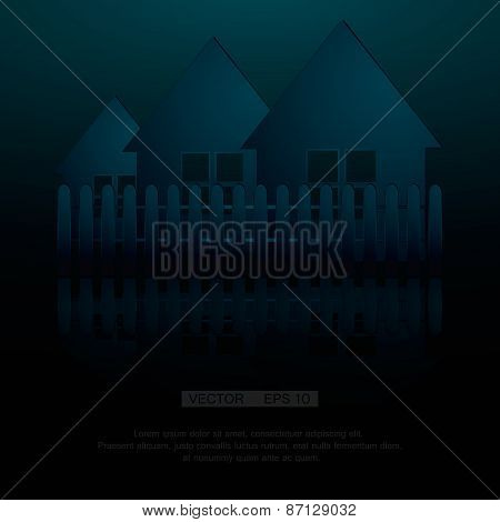 Real estate symbolic image vector illustration. Eps 10