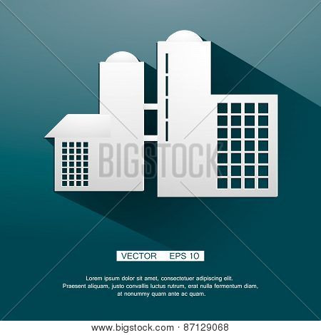 Icon of plant industrial production. Vector illustration eps 10