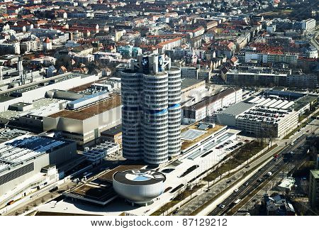 Bmw Headquarter In Munchen