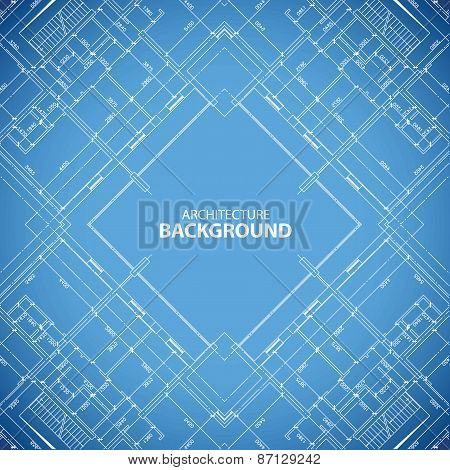 Blueprint building structure background