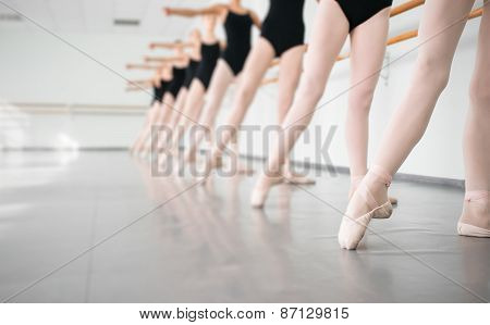 Young Dancers Ballerinas In Class Classical Dance, Ballet