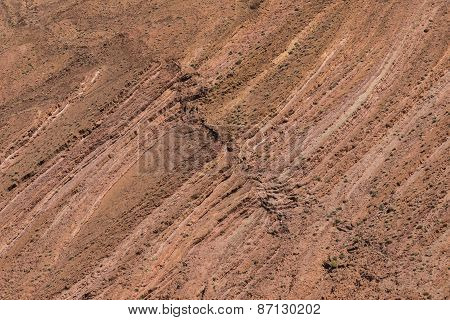 The Texture Of Sedimentary Rock Of The Atlas Mountain