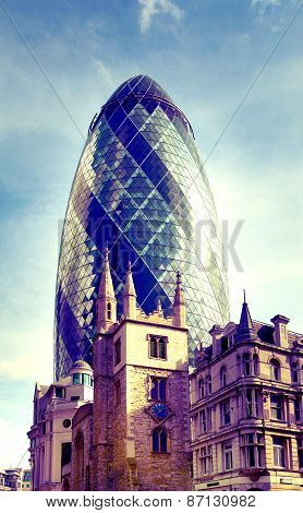 ONDON, UK - APRIL 24, 2014: Modern architecture City of London the leading centre of global finance,