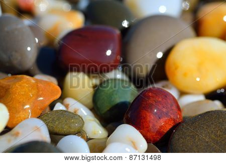 Multi-colored Pebbles