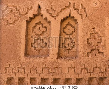 The Symbolic Design For Decoration Of Kasbah De Taourirt