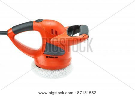 Car Polishing Machine Isolated On White