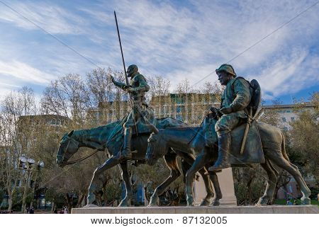 Don Quijote De La Mancha And Sancho Panza