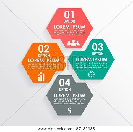 Infographics square shape elements