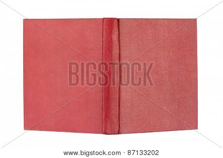 Opened book cover isolated on white background