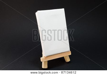 Artist Easel, Black Background