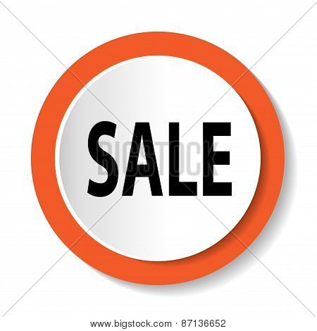 Vector icon with the word SALE