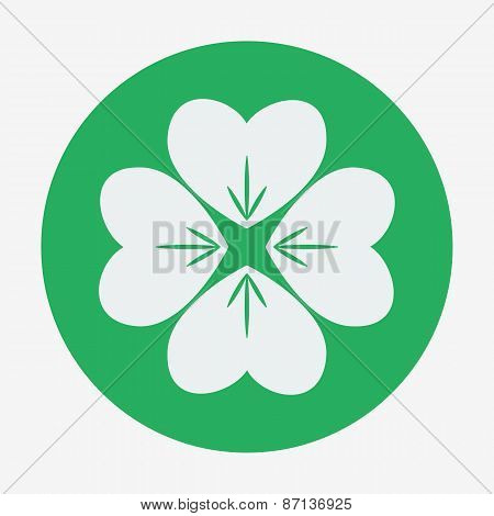 Flat style icon with, clover vector illustration.