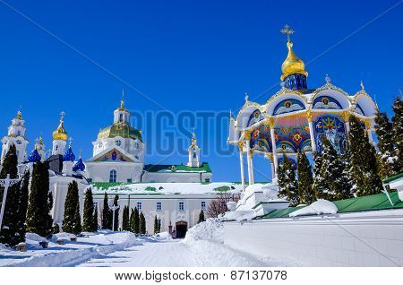 Pochaev lavra.  View from holy gate.