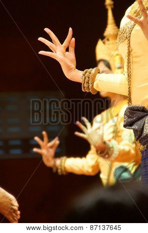 Ritual Hand Positions Of Apsara Dancers