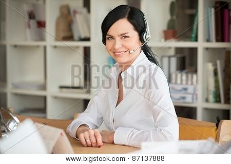 White collar worker in office