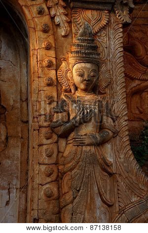 Guardian Spirit On Ancient Stupa