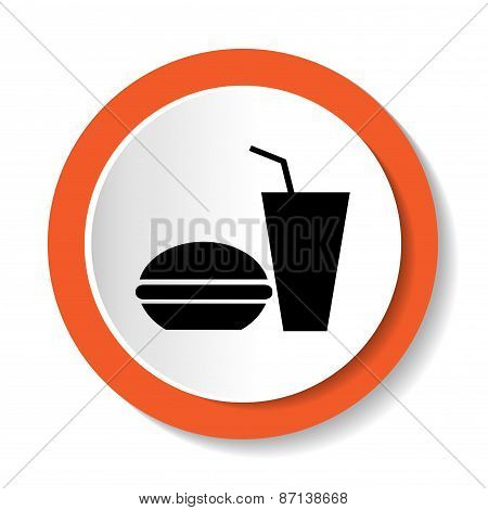 Vector icons Fast Food