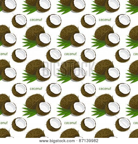Seamless Pattern With Coconuts
