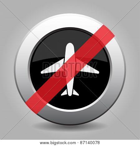 Grey Chrome Button - No Airplane