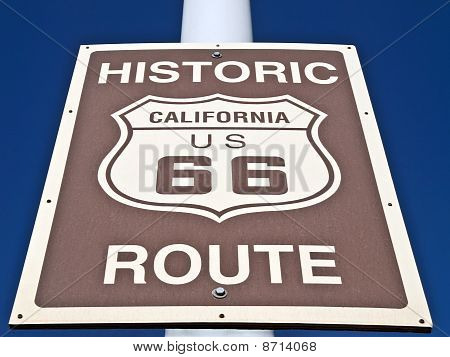 Historic Route 66 Street Sign