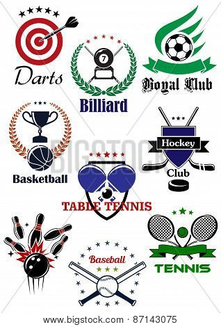 Heraldic badges template for sporting games