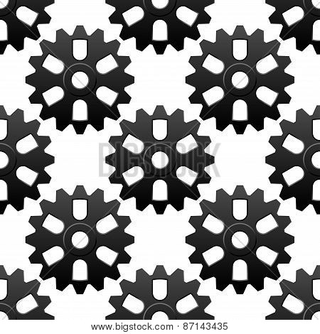 Mechanical sesamless pattern with cogwheels or gears