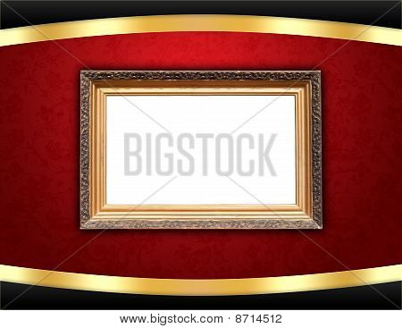 Vintage Frame on Stylish Background