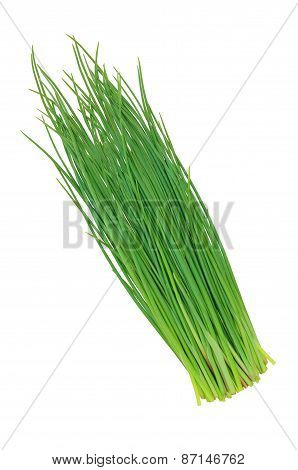 Green Onions Leeks Isolated On White