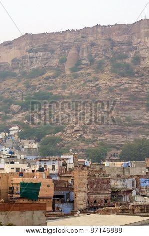 Jodhpur The Blue City With Mehrangarh Fort In The Background