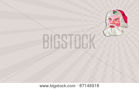Business Card Santa Claus Father Christmas Low Polygon