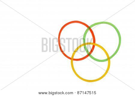 Rubber Ring On White